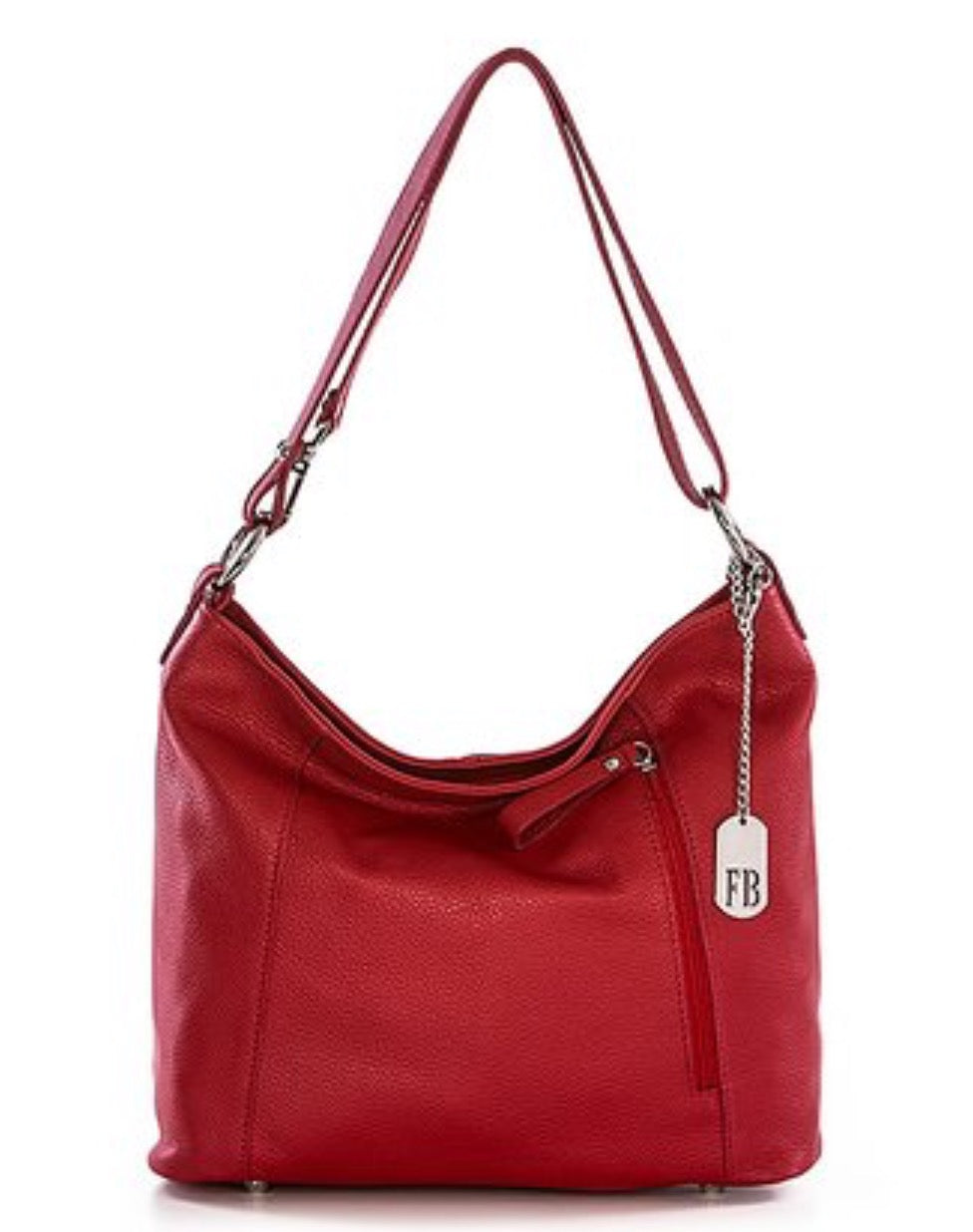 Red Leather Hobo