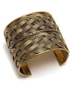 Gold Braided Cuff Bangles