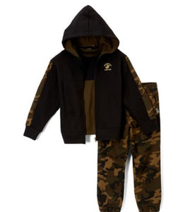 US Polo Gray & Fatigue Camo Hoodie Set
