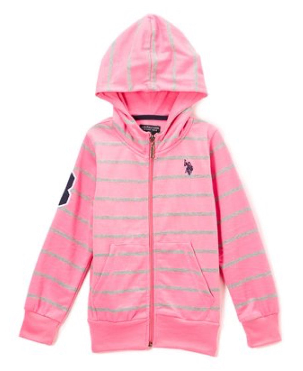 Boys - US Polo Zip Up Hoodie - Toddler & Girls