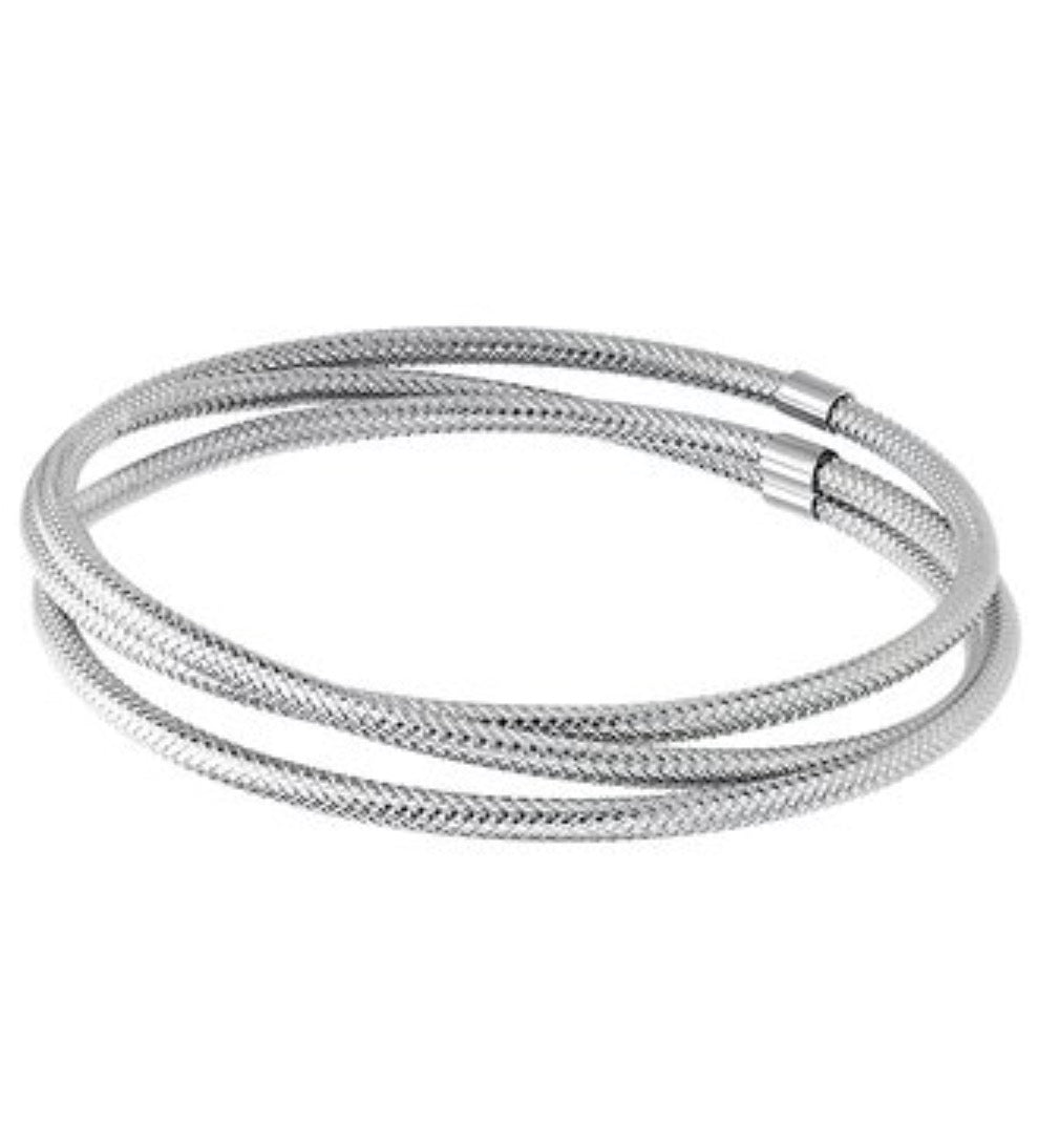 INOX Stainless Steel Stacked Bangle