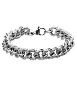 INOX Stainless Steel Curb Chain Bracelet