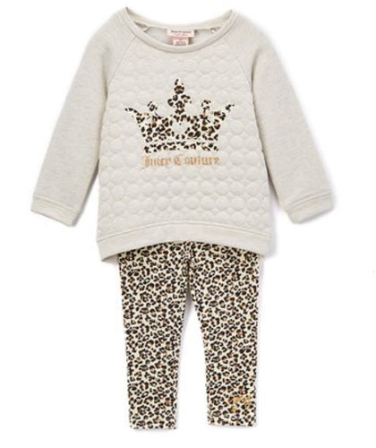 Juicy Couture Quilted Pullover & Leggings- Girls