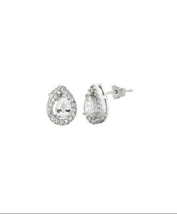 Sterling Silver Teardrop Earring with Swarovski®  Crystals