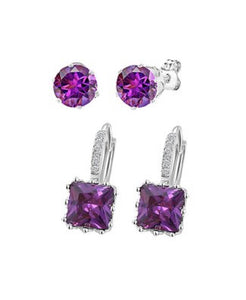 Diane Lo'ren Earring Set with Swarovski® Crystals