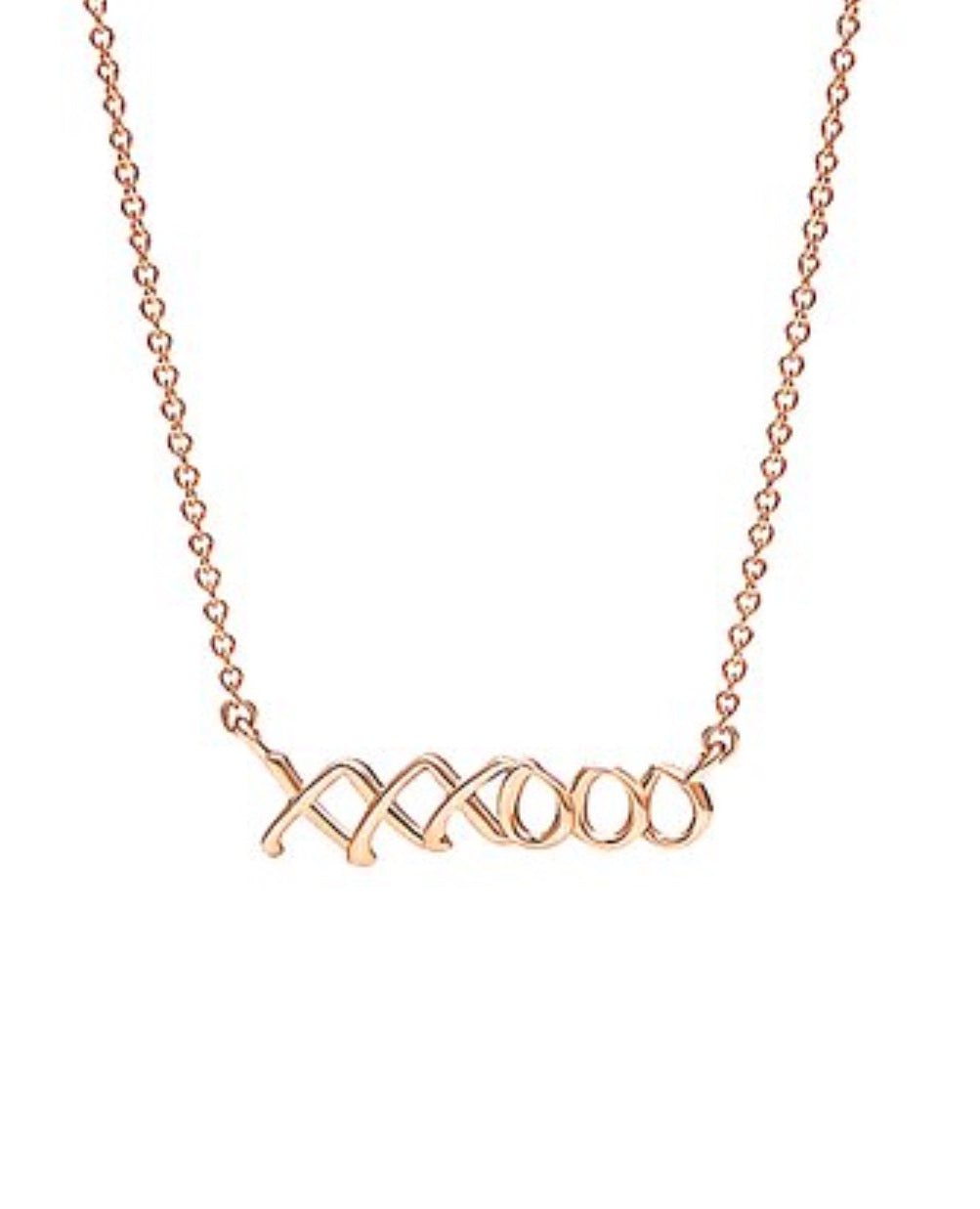 Rose Gold 'XOX' Rose Gold Necklace
