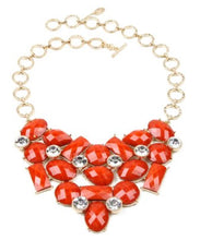 Austrian East Hampton Crystal Bib Necklace