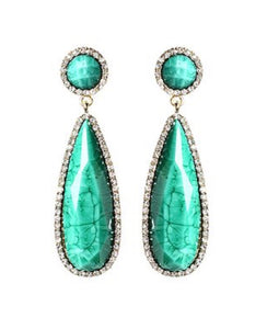 Crystal Paris Island Drop Earrings