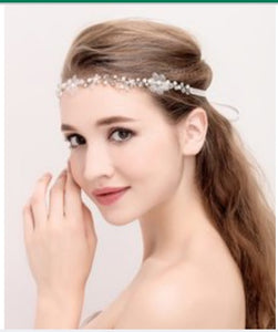 Hair Acessories - Headband - Silver Floral