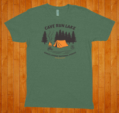 Cave Run Lake / Camping (Green) - Tee