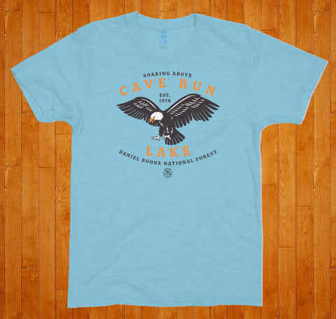 Cave Run Lake / Eagle - (Sky) Tee