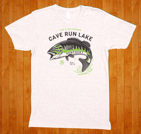 Cave Run Lake / Let's Go Fishing - (White) Tee