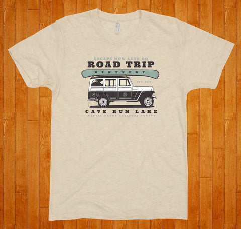 Cave Run Lake / Road Trip - (Tan) Tee
