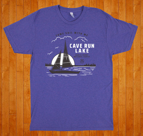 Cave Run Lake / Come Sail With Me - Tee