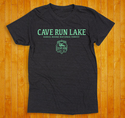 Cave Run Lake (Heather Black / Green) Tee