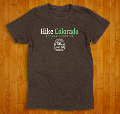 Escape Now | Lets Go -- Hike Colorado T-Shirt (Espresso)