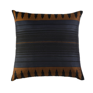 Load image into Gallery viewer, Colonnade Cushion - Sienna Brown Pure Mulberry Silk 50x50cm