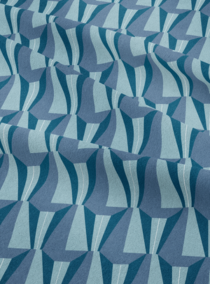 Tagore Hall Fabric - Calm Blue Cotton