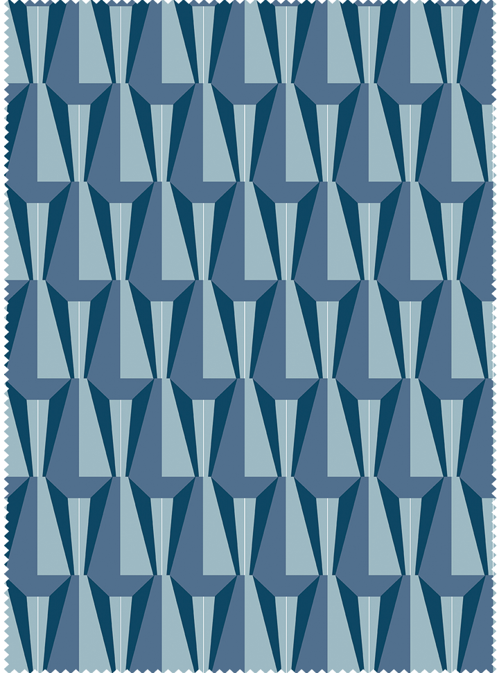 Load image into Gallery viewer, Tagore Hall Fabric - Calm Blue Cotton