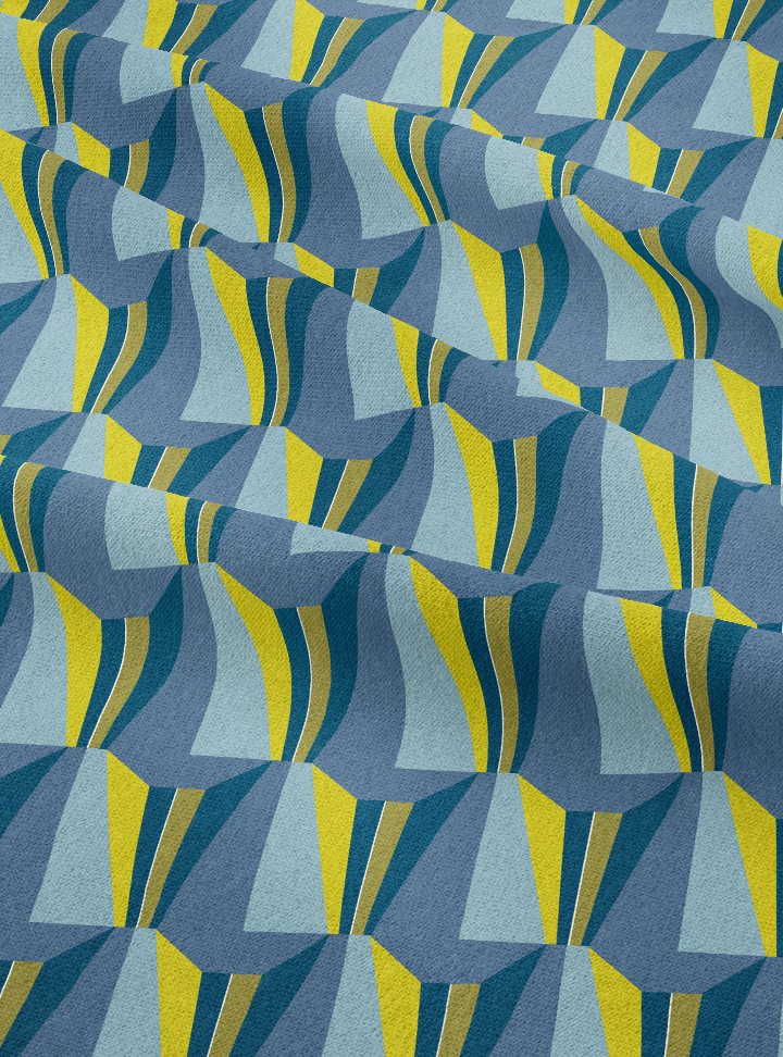 Tagore Hall Fabric - Vivid Blue Cotton