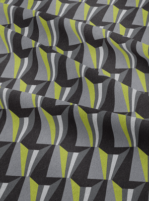 Tagore Hall Fabric - Moss Grey Cotton