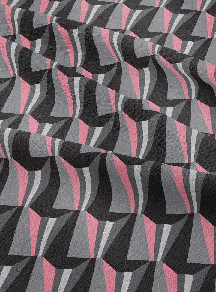 Tagore Hall Fabric - Rose Grey Cotton