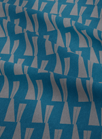 Tagore Hall Fabric - Pensive Blue Cotton