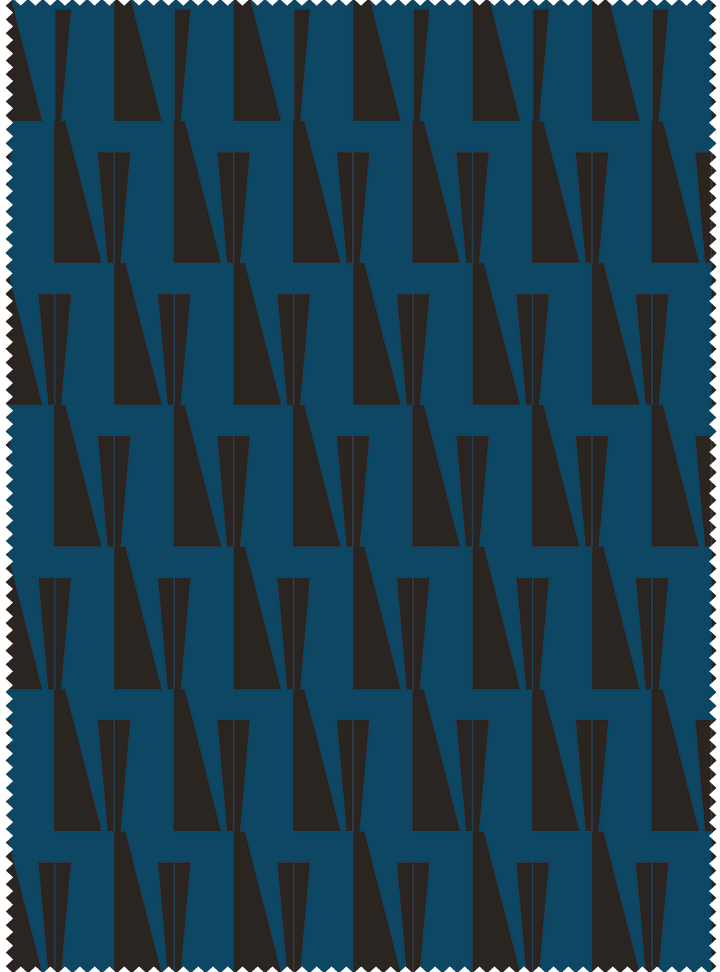Tagore Hall Fabric - Blue Black Cotton