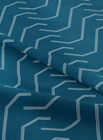 Pathways Fabric - Profound Blue Cotton