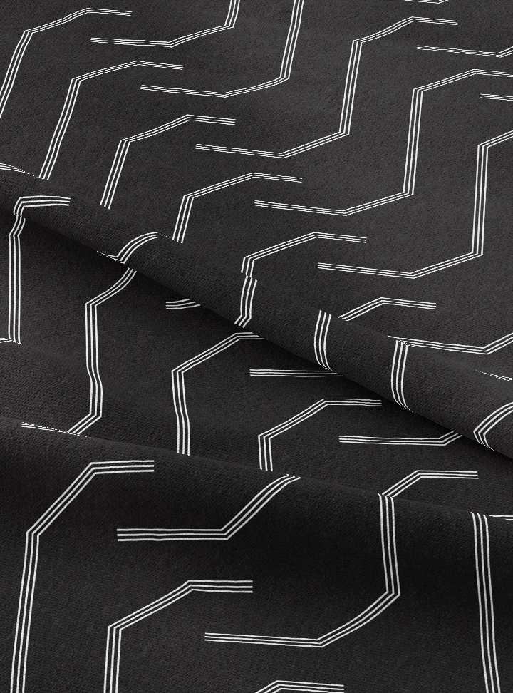 Pathways Fabric - Profound Black Cotton