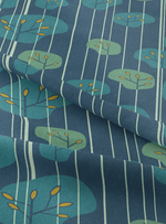 Grove Fabric - Mystery Blue Cotton