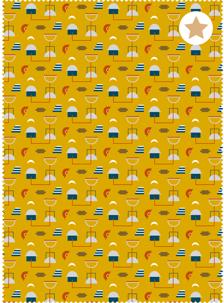Neighbourhood Fabric - Cheery Yellow Cotton
