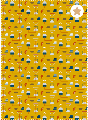 Load image into Gallery viewer, Neighbourhood Fabric - Cheery Yellow Cotton