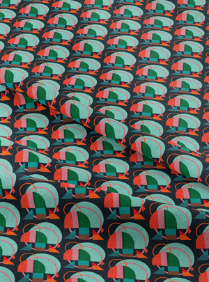 Load image into Gallery viewer, Dome Fabric - Mint Orange Cotton