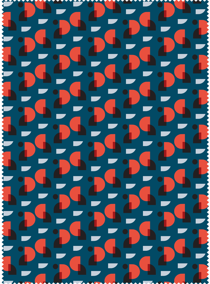 Doorways Fabric - Deep Blue Cotton