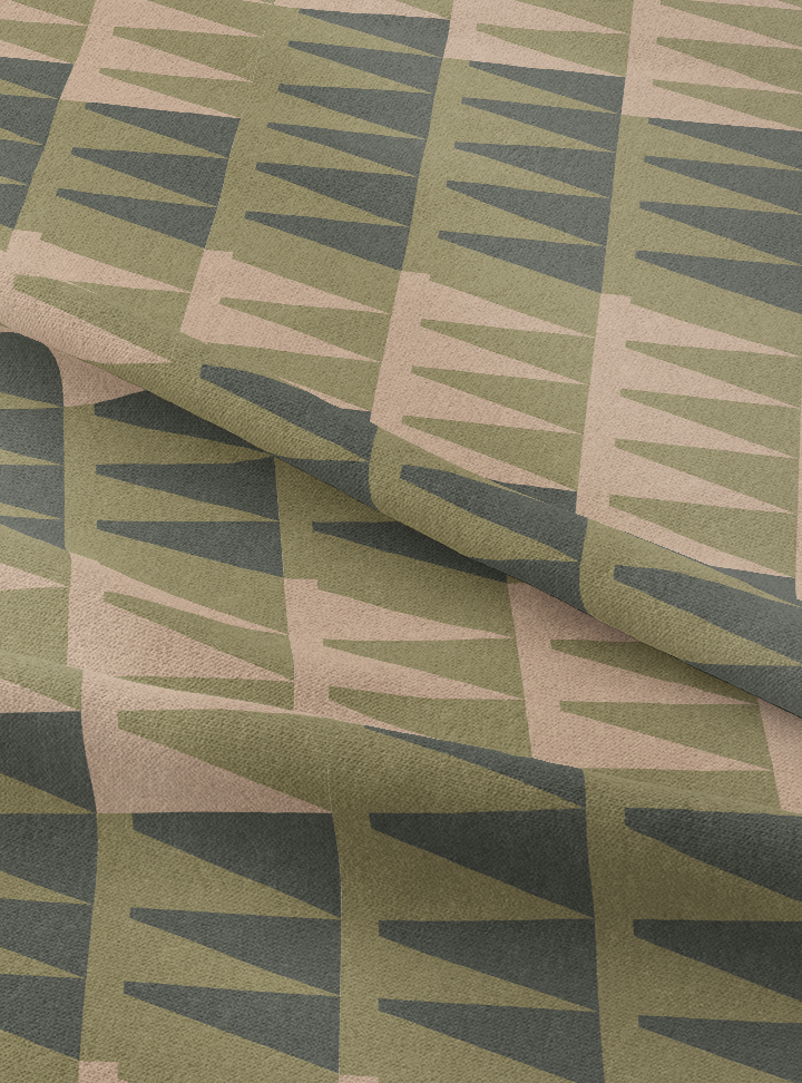 High Noon Fabric - Olive Green Cotton
