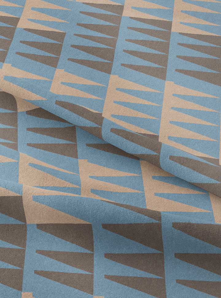High Noon Fabric - Steely Blue Cotton