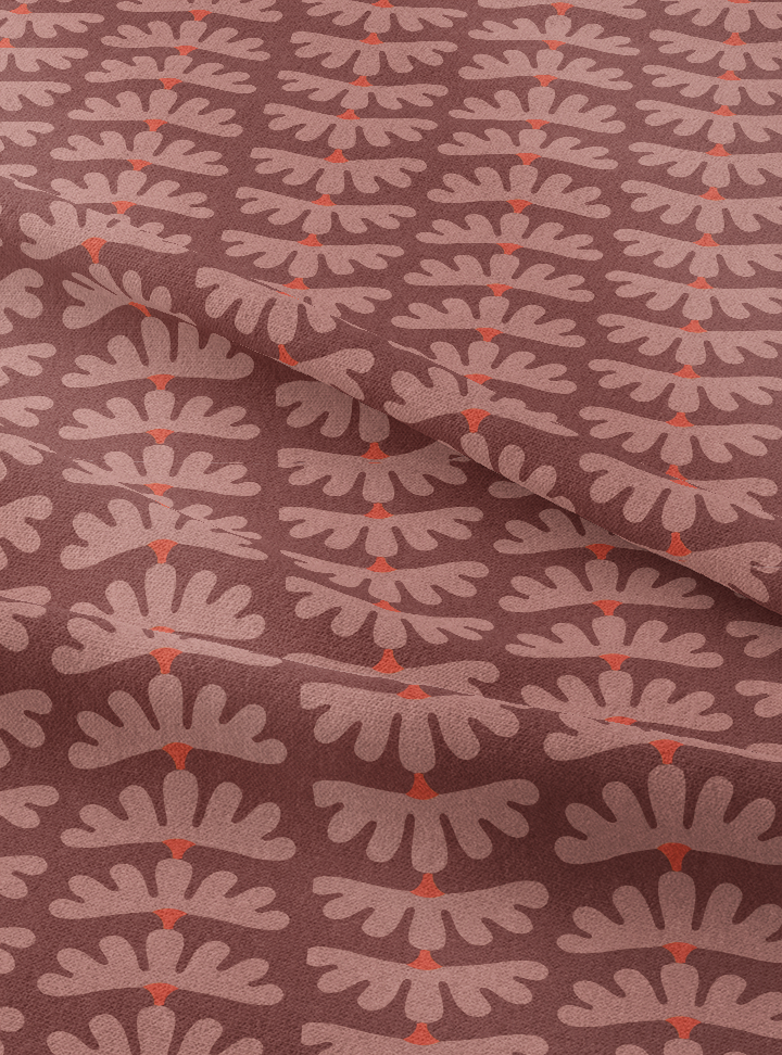 Tanjore Garlands Fabric - Pastoral Brown Cotton
