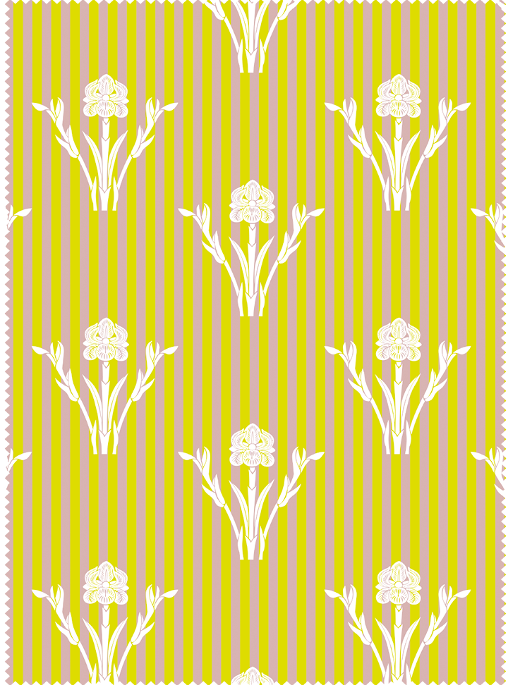 Load image into Gallery viewer, Iris Garden Fabric - Gentle Yellow Cotton