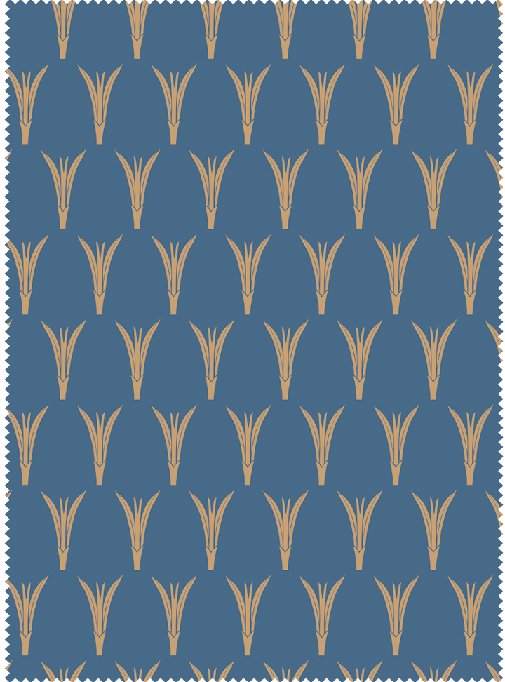 Plantings Fabric - Mood Indigo Cotton
