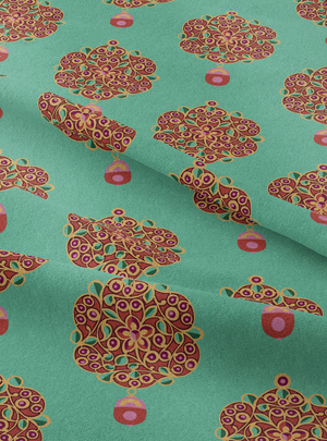 Load image into Gallery viewer, Maharani's Jewels Fabric - Jewel Jade Cotton