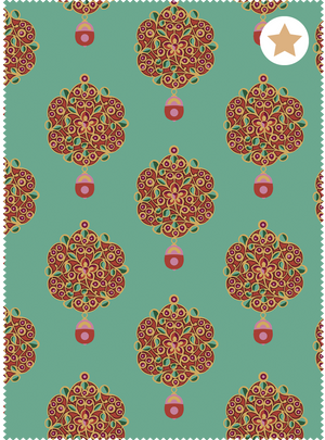 Maharani's Jewels Fabric - Jewel Jade Cotton