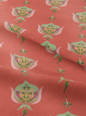 Nature's Ragas Fabric - Warm Peach Cotton