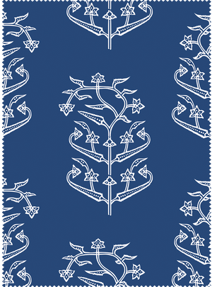 Queen's Trousseau Fabric -Dark Blue