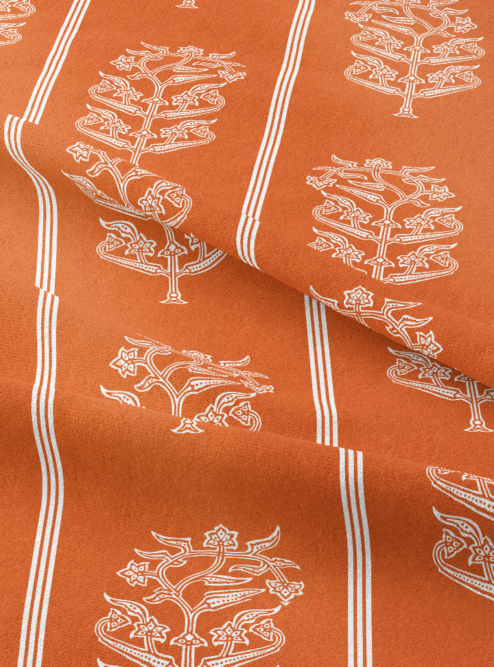 Load image into Gallery viewer, Queen's Trousseau Fabric - Warm Rust Cotton