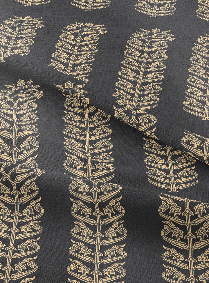 Load image into Gallery viewer, Queen's Trousseau Fabric - Gracious Grey Cotton