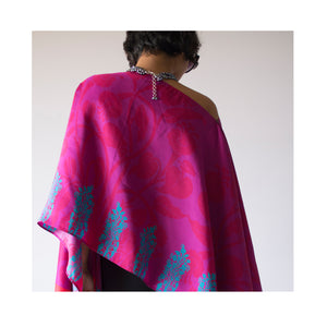 Load image into Gallery viewer, Jewel Garden Wrap - Royal Rose Pure Silk