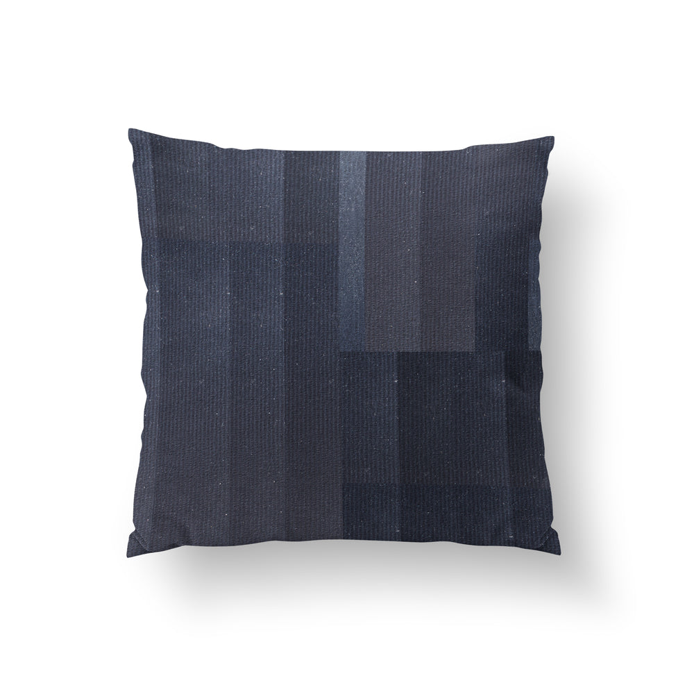 Crossing Paths Slate - HANDLOOM RAW SILK