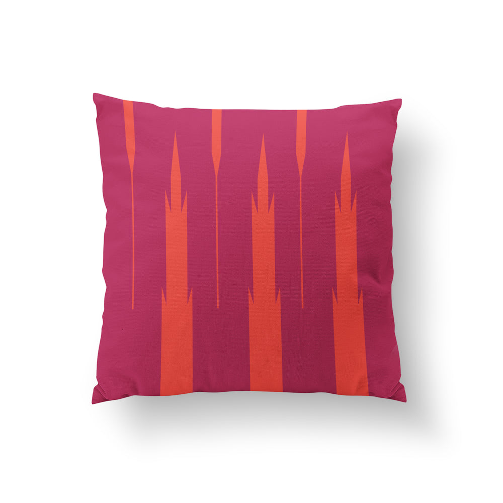 Totems Cushion - Magenta Pure Mulberry Silk 50x50cm