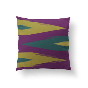 Garuda's Wings Cushion - Purple Leaf Pure Mulberry Silk 50x50cm